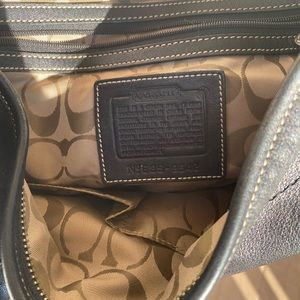 Coach blk all leather classic hobo